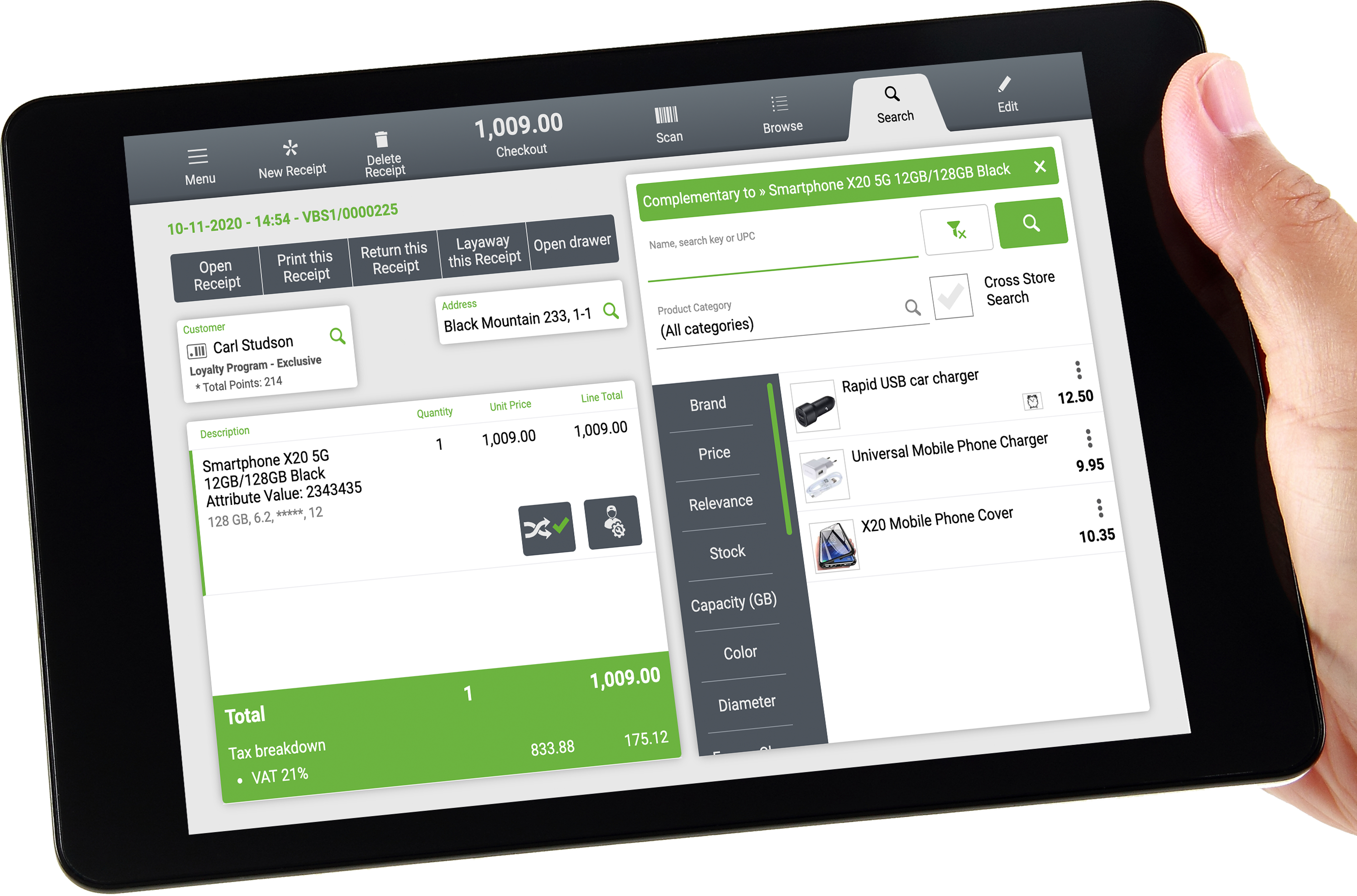 Openbravo POS in a tablet